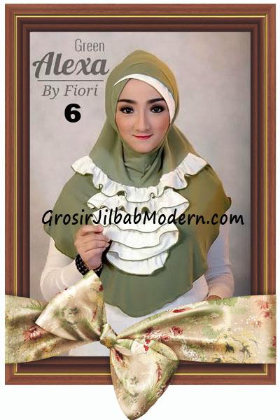 Jilbab Modern Cantik Syria Daily Alexa by Fiori Design No 6 Green