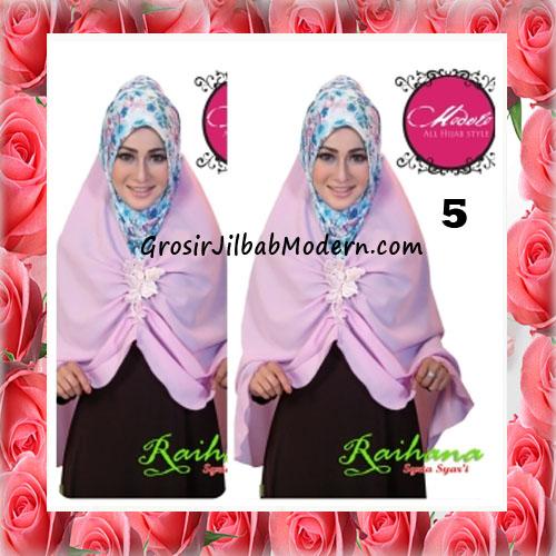 Jilbab Modis Syar'i Raihana Original by Modelo No 5 Ungu Muda