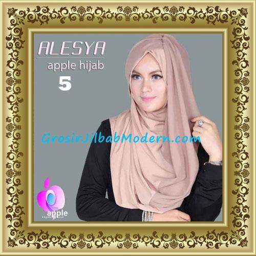 Jilbab Pashmina Instant Alesya Hana Premium by Apple Hijab Brand No 5 Milo