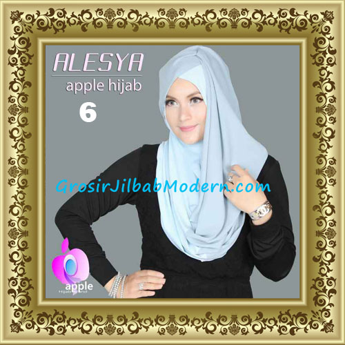 Jilbab Pashmina Instant Alesya Hana Premium by Apple Hijab Brand No 6
