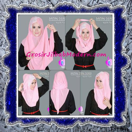 Jilbab Pesta Modern Pastan Deasy Cantik Original by Apple Hijab Brand - Cara Pemakaian