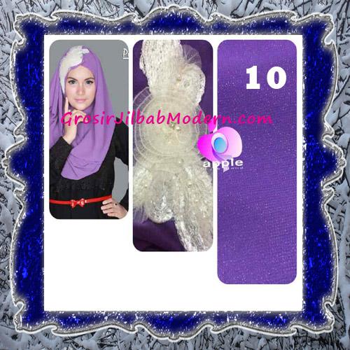 Jilbab Pesta Modern Pastan Deasy Cantik Original by Apple Hijab Brand No 10 Deep Lavender