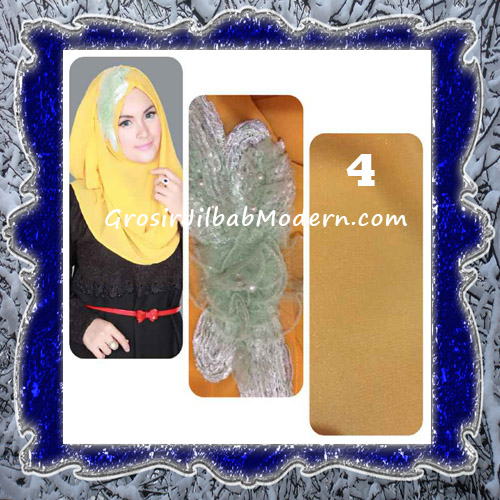 Jilbab Pesta Modern Pastan Deasy Cantik Original by Apple Hijab Brand No 4 Gold