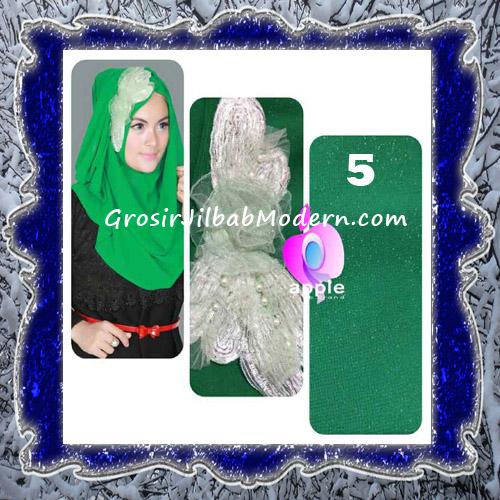 Jilbab Pesta Modern Pastan Deasy Cantik Original by Apple Hijab Brand No 5 Green
