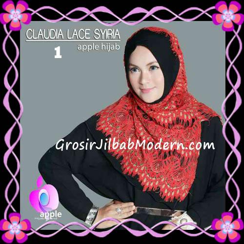 Jilbab Syria Modern Claudia Lace Trendy Original By Apple Hijab Brand No 1