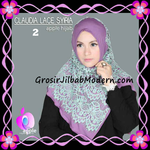 Jilbab Syria Modern Claudia Lace Trendy Original By Apple Hijab Brand No 2