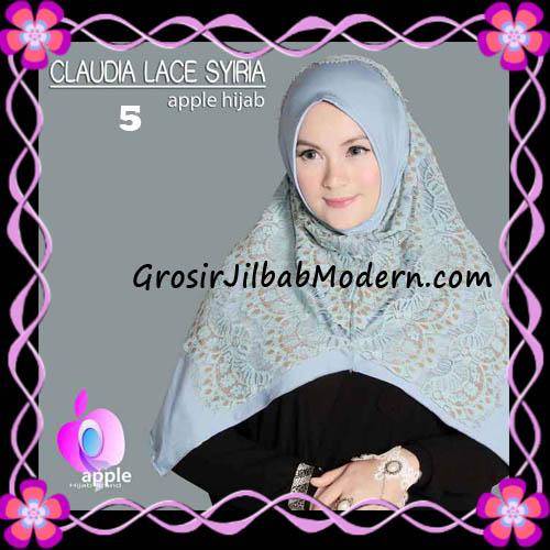 Jilbab Syria Modern Claudia Lace Trendy Original By Apple Hijab Brand No 5