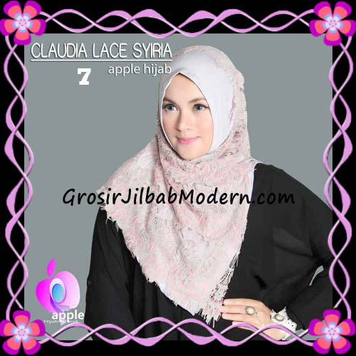 Jilbab Syria Modern Claudia Lace Trendy Original By Apple Hijab Brand No 7