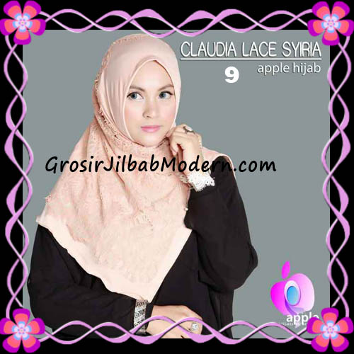 Jilbab Syria Modern Claudia Lace Trendy Original By Apple Hijab Brand No 9