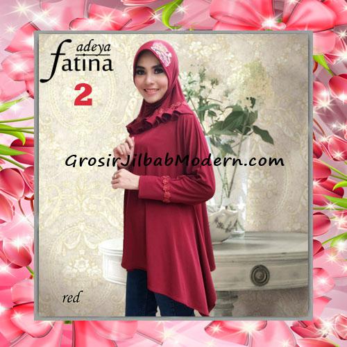 Jilbab Bergo Lengan Fatina Modis dan Cantik Original by Fadeya No 2 Red