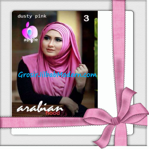 Jilbab Hoodie Instan Arabian Seri 2 by Apple Hijab Brand No 3 Dusty Pink