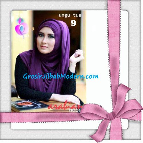 Jilbab Hoodie Instan Arabian Seri 2 by Apple Hijab Brand No 9 Ungu Tua