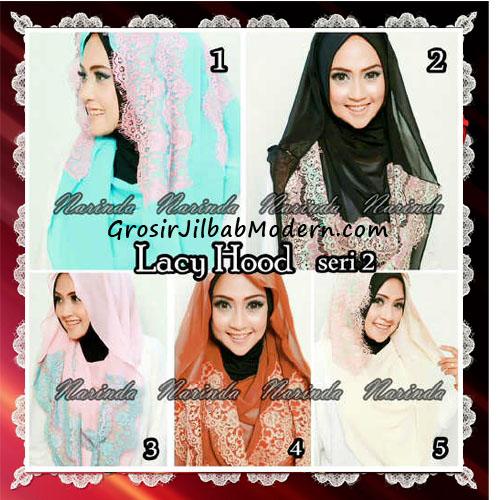 Jilbab Hoodie Instant Modern Trendy Lacy Hood Seri 2 Original By Narinda Series