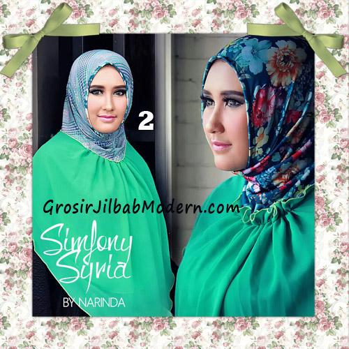 Jilbab Instant Cantik Simfony Syria Bolak Balik Original By Narinda No 2 Hijau