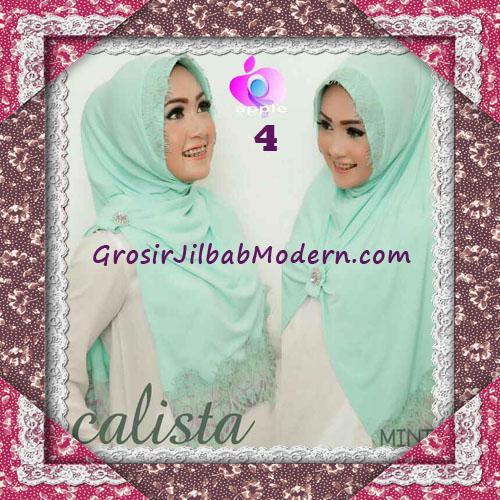 Jilbab Instant Modis Arzeti Calista Premium Original By Apple Hijab Brand No 4 Mint