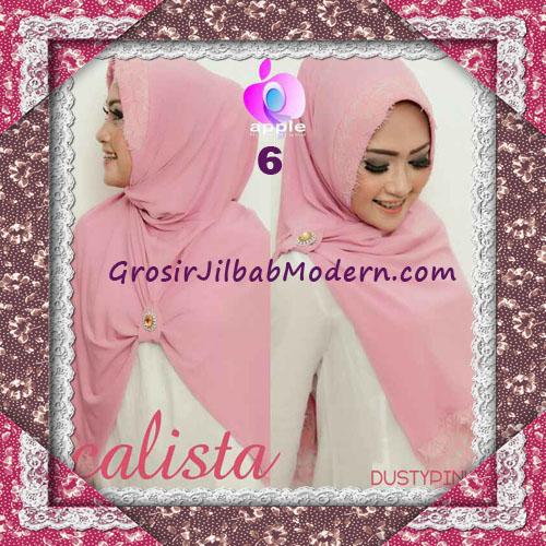 Jilbab Instant Modis Arzeti Calista Premium Original By Apple Hijab Brand No 6 Dusty Pink