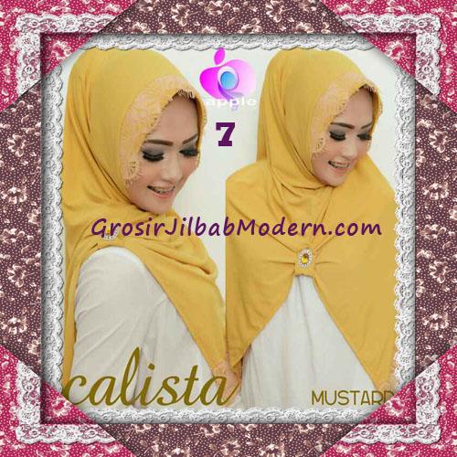 Jilbab Instant Modis Arzeti Calista Premium Original By Apple Hijab Brand No 7 Mustard