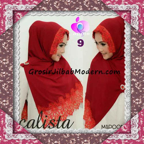 Jilbab Instant Modis Arzeti Calista Premium Original By Apple Hijab Brand No 9 Maroon