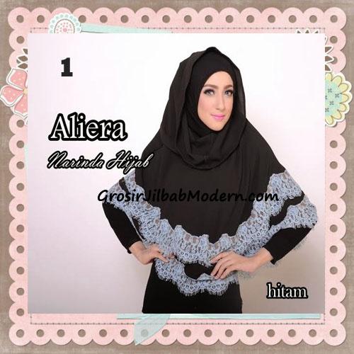 Jilbab Instant Modis Cantik Aliera Hoodie by Narinda No 1 Hitam