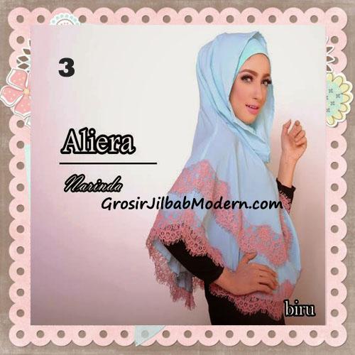 Jilbab Instant Modis Cantik Aliera Hoodie by Narinda No 3 Biru