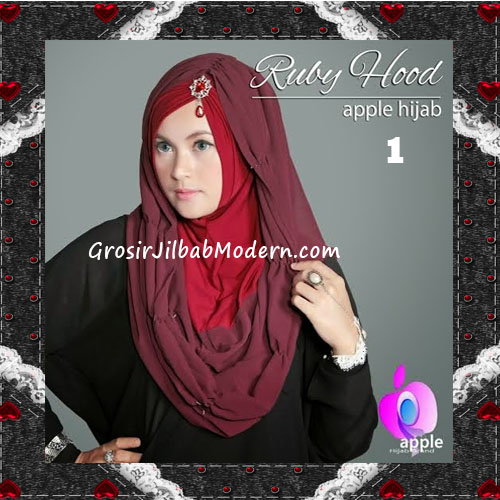 Jilbab Instant Modis Premium Ruby Hoodie Original By Apple Hijab Brand No 1 Maroon