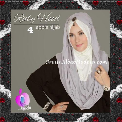 Jilbab Instant Modis Premium Ruby Hoodie Original By Apple Hijab Brand No 4 Grey