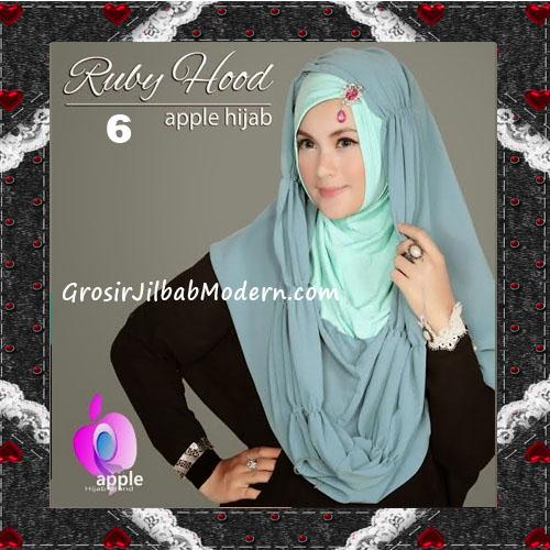 Jilbab Instant Modis Premium Ruby Hoodie Original By Apple Hijab Brand No 6 Mint