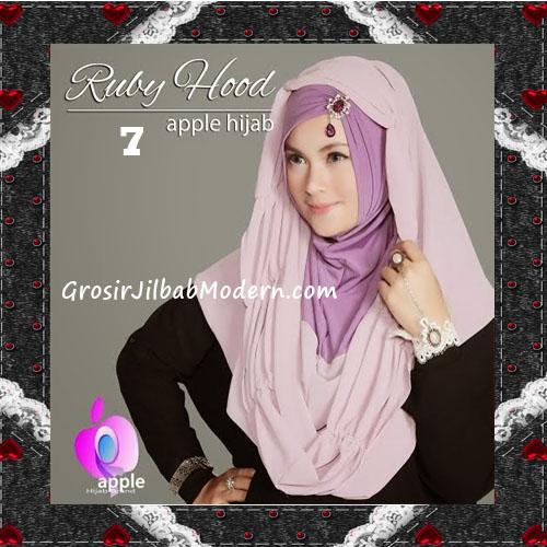 Jilbab Instant Modis Premium Ruby Hoodie Original By Apple Hijab Brand No 7 Purple
