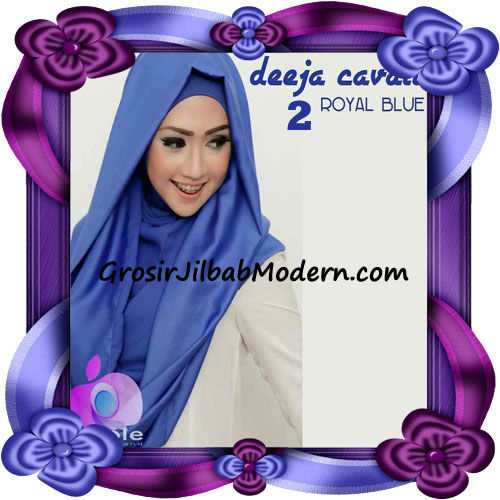 Jilbab Instant Modis Terbaru Deeja Cavali Hoodie Seri 2 Exclusive Original by Apple Hijab Brand No 2  Royal Blue