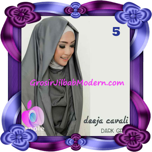 Jilbab Instant Modis Terbaru Deeja Cavali Hoodie Seri 2 Exclusive Original by Apple Hijab Brand No 5 Dark Grey
