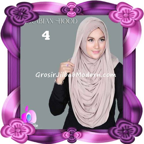 Jilbab Instant New Arabian Hoodie Simple dan Elegan By Apple Hijab Brand No 4 Khaki