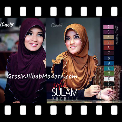 Jilbab Instant Pet Cantik Sofia Sulam Premium
