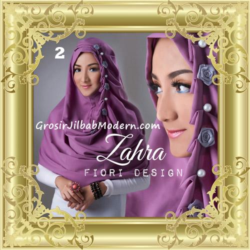 Jilbab Instant Syria Premium Zahra Terbaru By Fiori Design No 2 Ungu