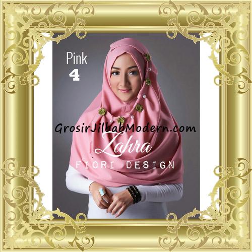 Jilbab Instant Syria Premium Zahra Terbaru By Fiori Design No 4 Pink