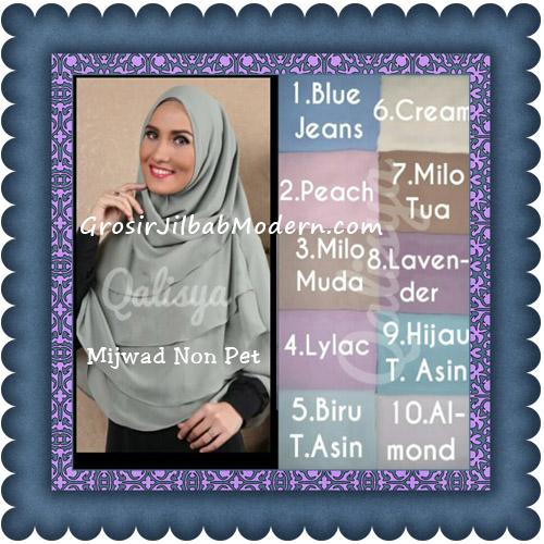 Jilbab Khimar Cantik Mijwad Tanpa Pet Seri 1 Original By Qalisya Series