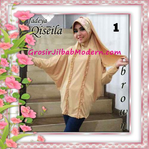 Jilbab Lengan Simple Modis Qiseila Original By Fadeya No 1 Brown
