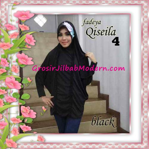Jilbab Lengan Simple Modis Qiseila Original By Fadeya No 4 Black