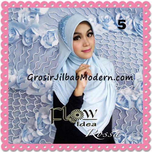 Jilbab Modern Syria Rossa Cantik Original By Flow Idea No 5 Biru