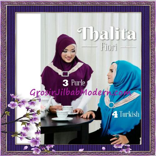 Jilbab Syria Instant Cantik Thalita Terbaru Original Fiori Design No 3, 4