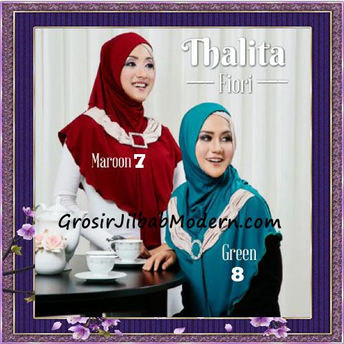 Jilbab Syria Instant Cantik Thalita Terbaru Original Fiori Design No 7, 8