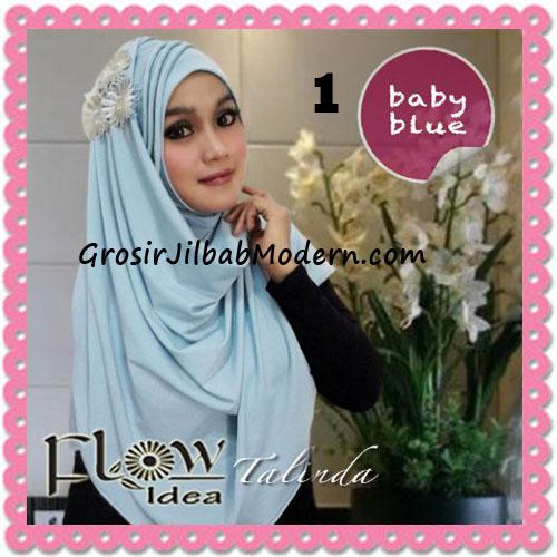 Jilbab Syria Pashmina Instant Cantik Terbaru Talinda by Flow Idea No 1 Baby Blue