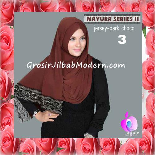 Jilbab Trendy Pashmina Instant Mayyura Seri 2 Original By Apple Hijab Brand No 3 Dark Choco