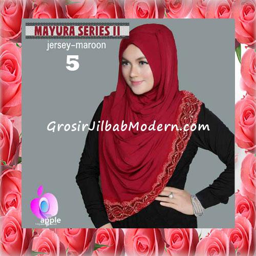 Jilbab Trendy Pashmina Instant Mayyura Seri 2 Original By Apple Hijab Brand No 5 Maroon