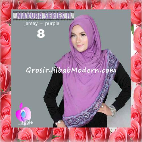 Jilbab Trendy Pashmina Instant Mayyura Seri 2 Original By Apple Hijab Brand No 8 Purple