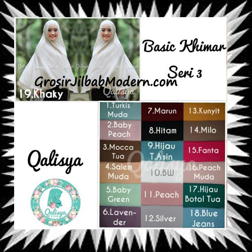 Jilbab Basic Khimar Syar'i Exclusive Seri 3 Original by Qalisya Series