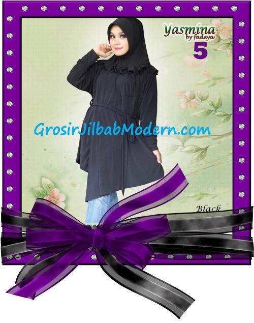 Jilbab Bergo Lengan Modis dan Cantik Yasmina Original By Fadeya No 5 Hitam