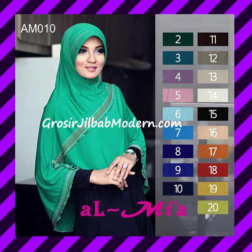 Jilbab Bergo Pet Instant Syar'i Original Almia Seri 10
