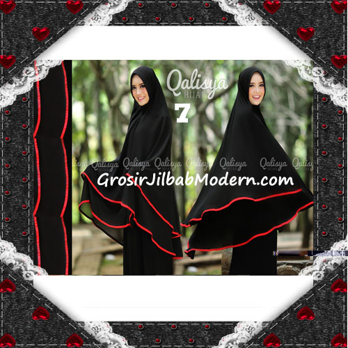 Jilbab Cerutti Jumbo Khimar Syar'i Taqiya Terbaru Original By Qalisya NO 7