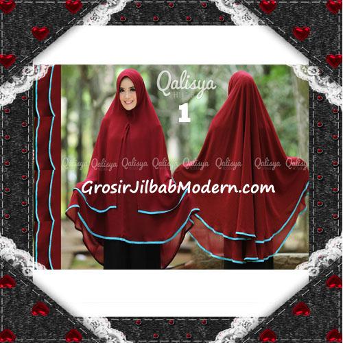 Jilbab Cerutti Jumbo Khimar Syar'i Taqiya Terbaru Original By Qalisya No 1