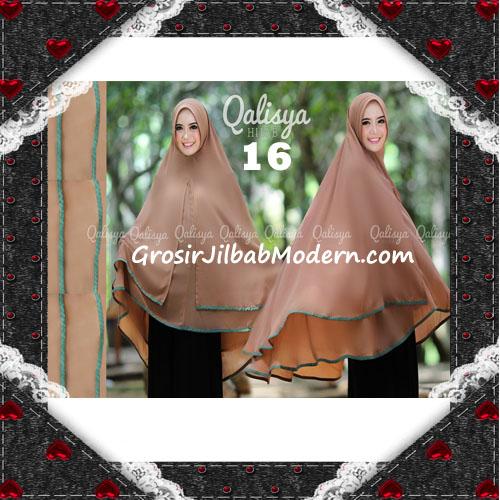 Jilbab Cerutti Jumbo Khimar Syar'i Taqiya Terbaru Original By Qalisya No 16